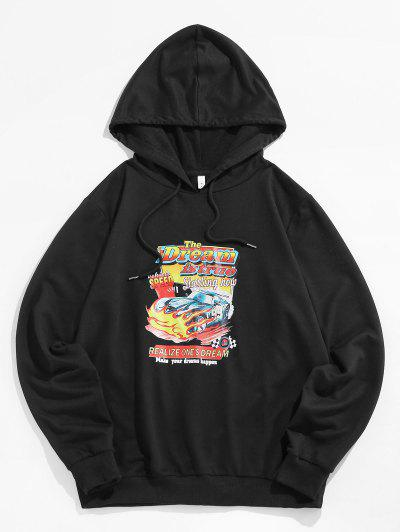 ZAFUL Car Graphic Print Hoodie - Black L