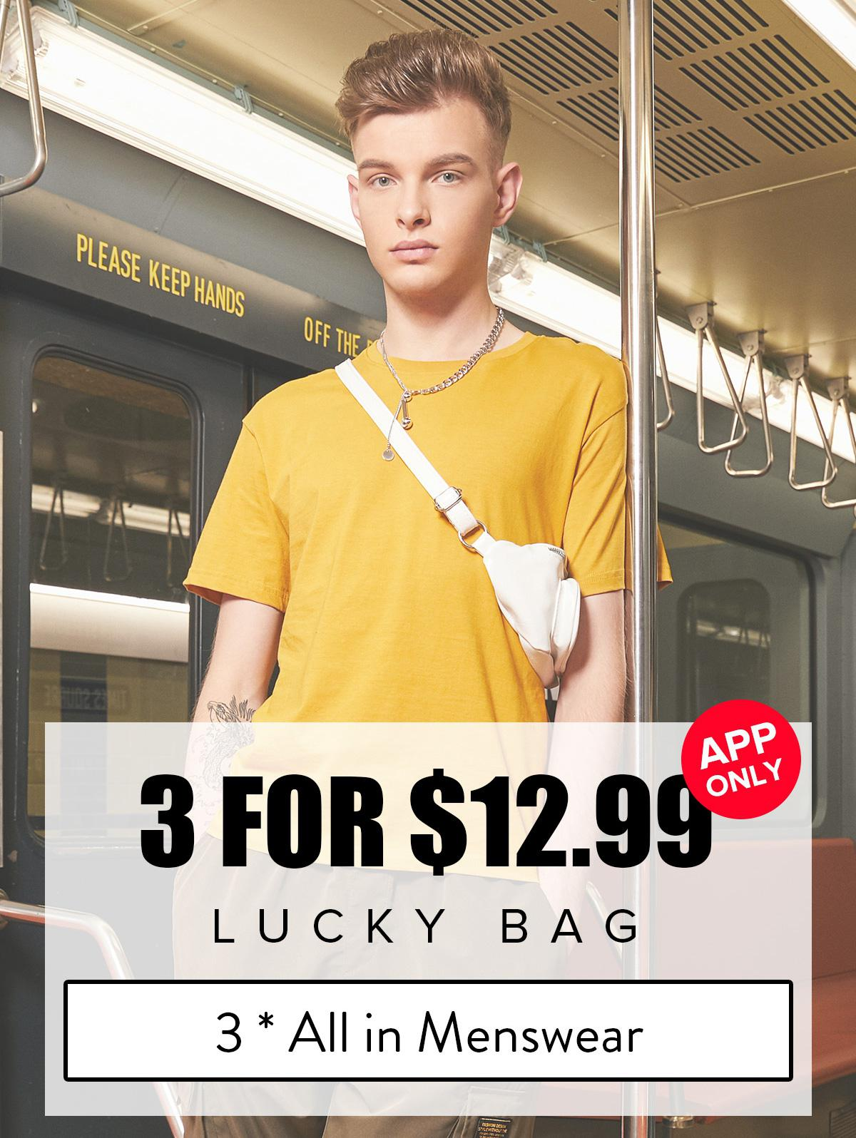 ZAFUL Lucky Bag - 3*All In Menswear - Limited Quantity