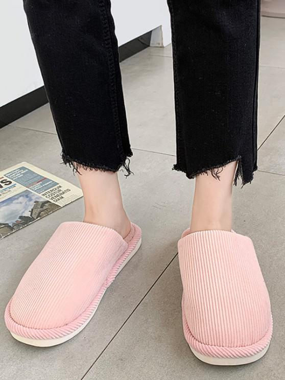 ladies Solid Color Fuzzy Comfortable Slippers - LIGHT PINK EU 39