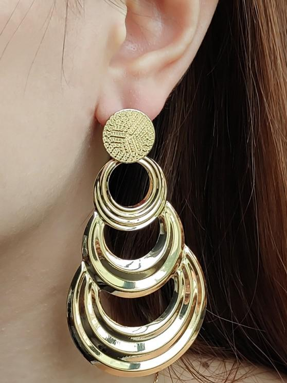outfit Hollow Out Circle Shape Drop Earrings - GOLDEN