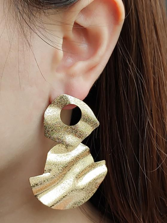 outfits Hammered Disc Drop Earrings - GOLDEN