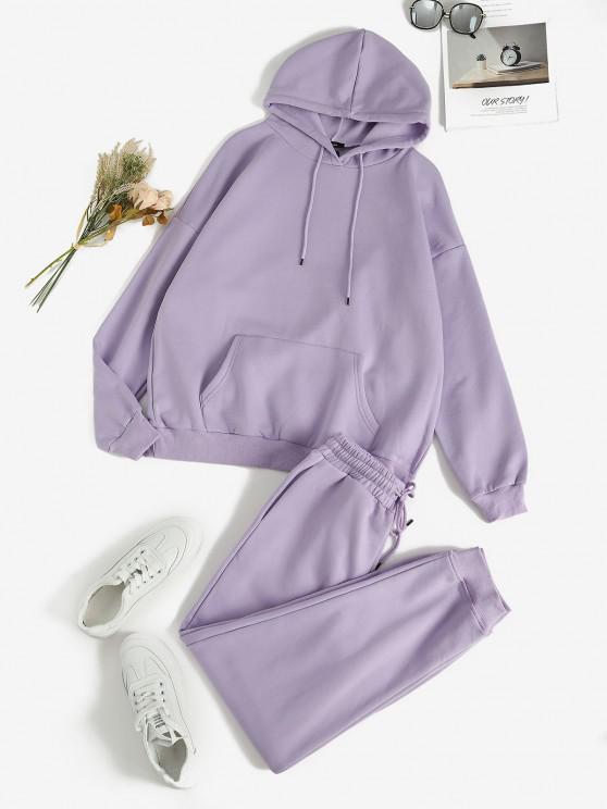 Terno suéter de duas peças - Luz roxa L