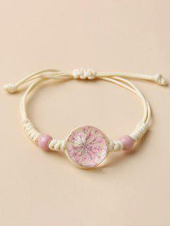 Sakura Künstliches Kristall Geflecht Armband - Milchweiß