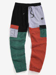 ZAFUL Colorblock Patchwork Beam Feet Cargo Pants - Multi 2xl