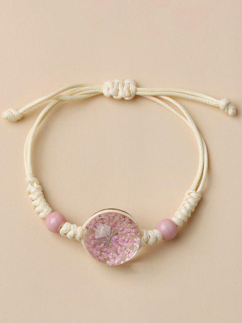Bracelet TresséCerise en Faux Cristal - Blanc Lait  Mobile