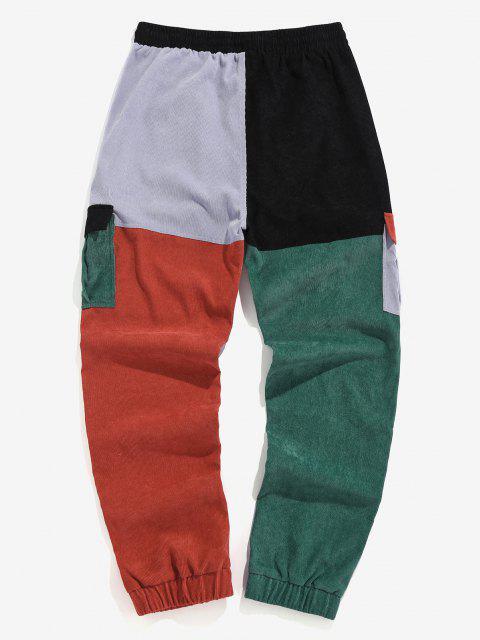 ZAFUL Pantalones de Carga de Bloqueo de Color y Cordón - Multicolor 2XL Mobile