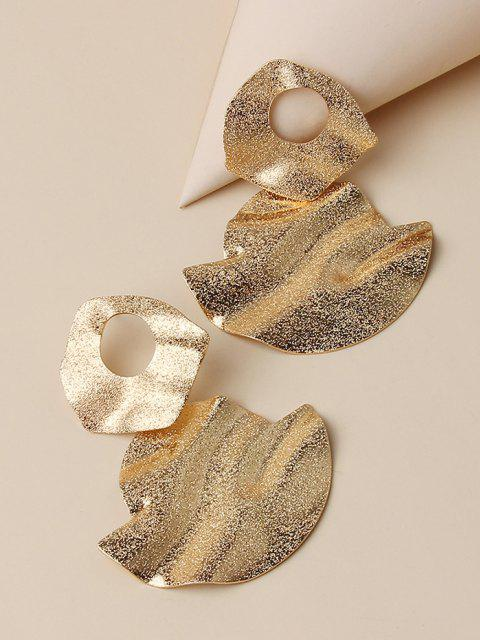 outfits Hammered Disc Drop Earrings - GOLDEN  Mobile