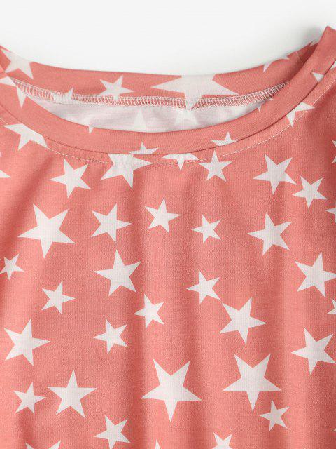 fashion Lounge Star Pocket Pants Set - LIGHT PINK M Mobile