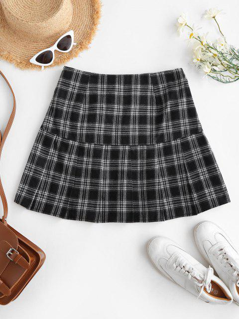 women ZAFUL Preppy Mini Pleated Skirt - BLACK M Mobile
