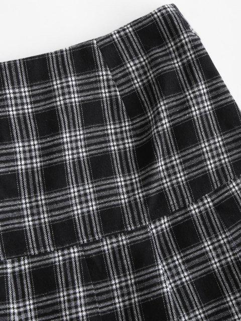 women ZAFUL Preppy Mini Pleated Skirt - BLACK M Mobile