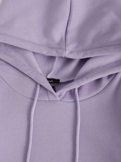Terno suéter de duas peças - Luz roxa L Mobile