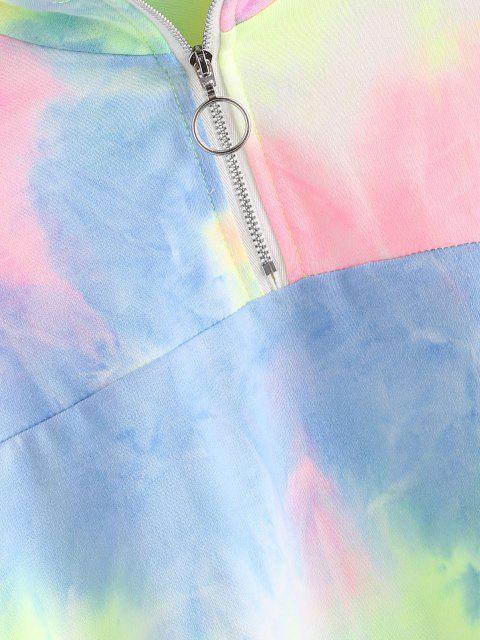 Sudadera Recortada Cuello Redondo y Media Cremallera - Multicolor S Mobile