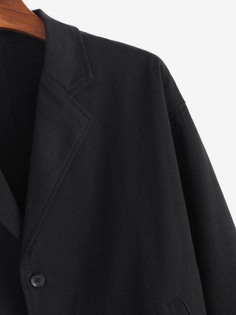 Einreiher Massiv Blazer - Schwarz 2XL Mobile