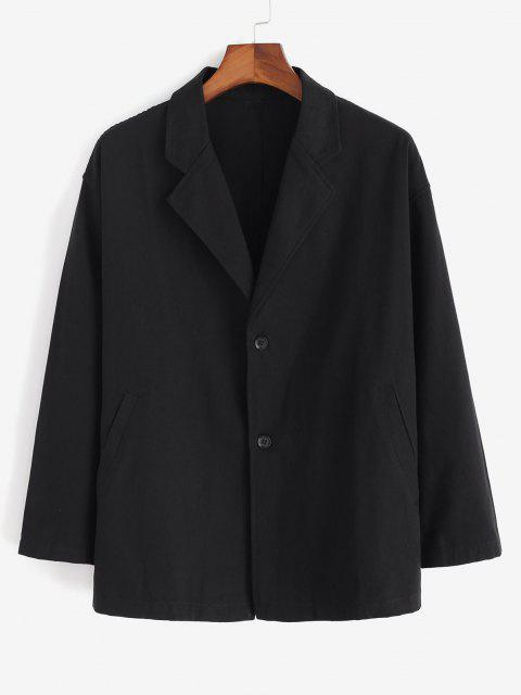 sale Single Breasted Solid Blazer - BLACK XL Mobile