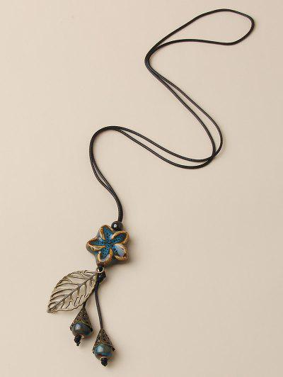 Zaful / Hollow Out Leaf Flower Pendant Necklace