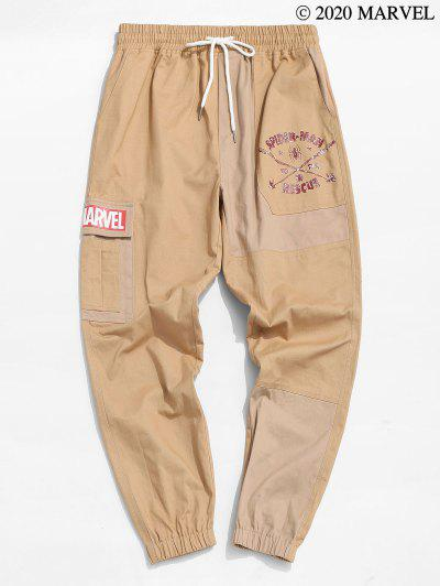 Marvel Spider-Man To The Rescue Graphic Cargo Pants - Camel Brown 2xl
