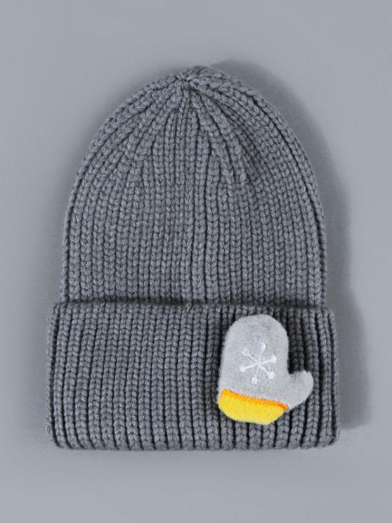 women Christmas Snowflake Glove Knit Beanie Hat - LIGHT SLATE GRAY