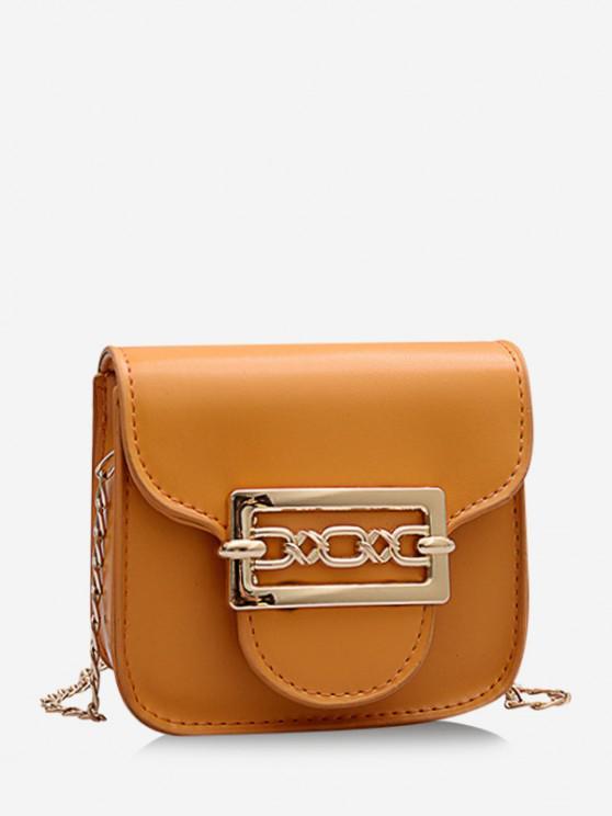 lady Cute Chain Mini Candy Crossbody Bag - BEE YELLOW