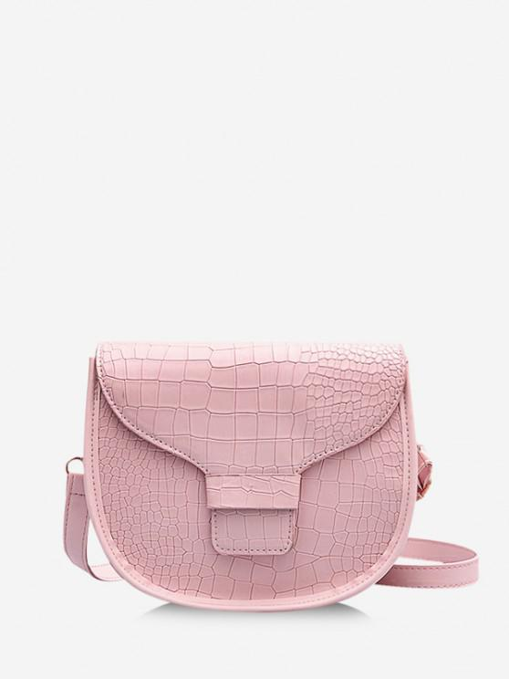 new Animal Pattern PU Leather Saddle Bag - PINK