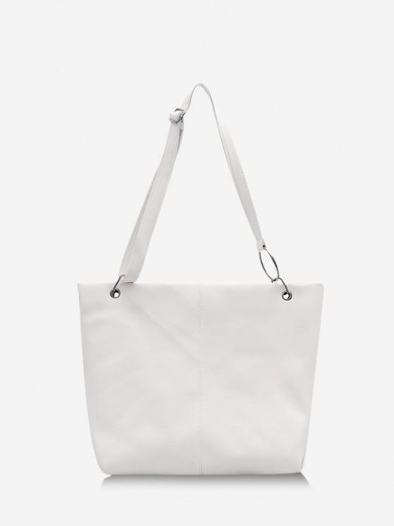 shops Solid O Ring Shoulder Bag - MILK WHITE