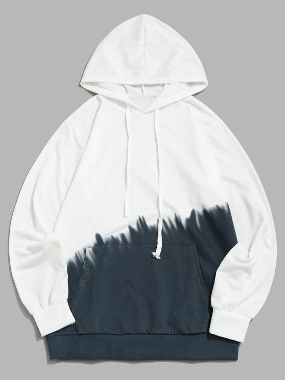 Ombre Print Front Pocket Hoodie - اللون الرمادي S