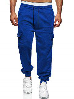 Pantalon Décontracté Fuselé Avec Poche Latérale - Bleu Cobalt Xl