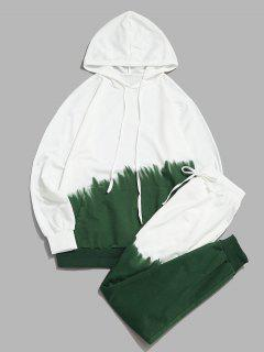 Ombre Hoodie And Pants Two Piece Set - Green S