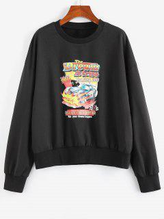 ZAFUL Sweat-shirt Graphique Voiture Imprimée - Noir M