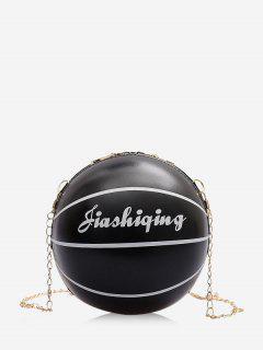 Sac à Bandoulière Chaîne En Forme De Basketball - Noir