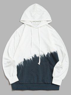 Ombredruck Vorder Tasche Hoodie - Grau S