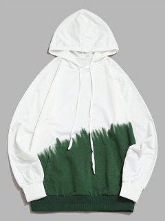Ombredruck Vorder Tasche Hoodie - Grün Xs