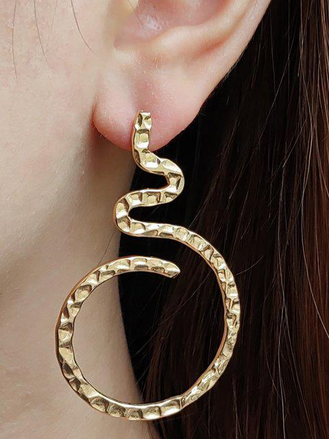 shop Hammered Curved Earrings - GOLDEN  Mobile