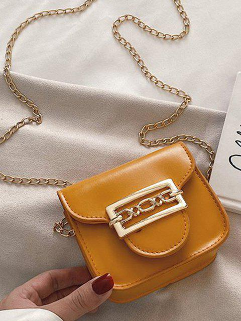 lady Cute Chain Mini Candy Crossbody Bag - BEE YELLOW  Mobile