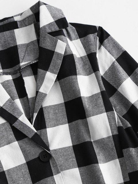 Camisa Asimétrica Corte Alto bajo Botón - Negro M Mobile