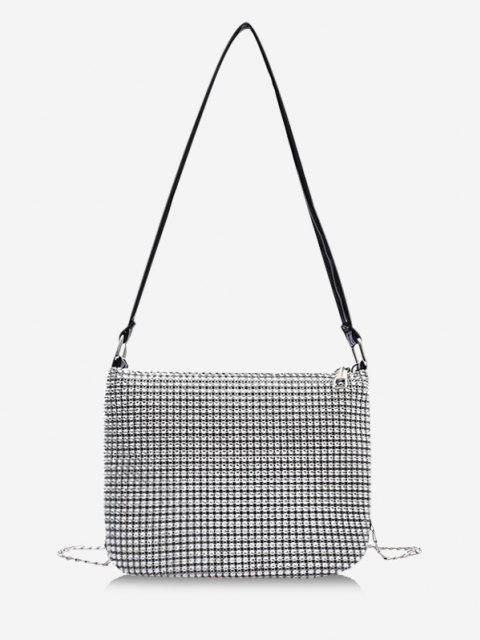 Sac de Soirée Chaîne avec Strass Design - Gris argenté  Mobile