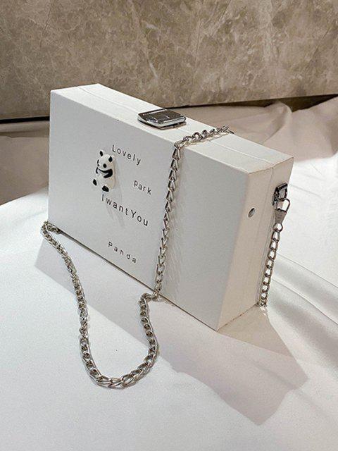 Sac à Bandoulière à Chaîne Motif d'Animal Dessin Animé - Blanc Chaud  Mobile