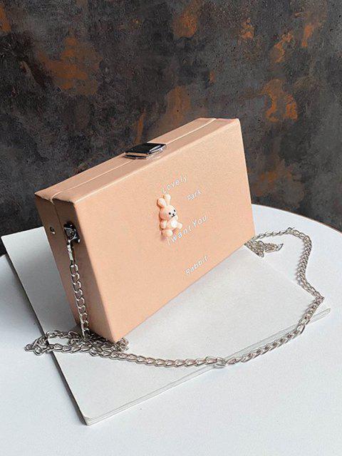 Sac à Bandoulière à Chaîne Motif d'Animal Dessin Animé - Rose Cochon  Mobile