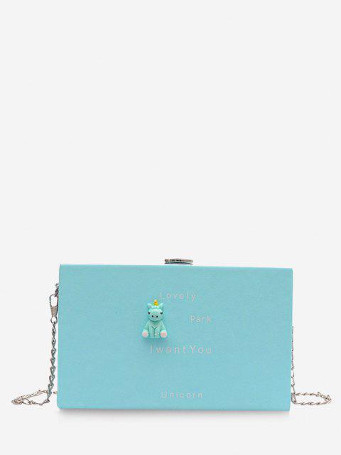 Cartoon Animal Pattern Chain Box Bag - ضوء السماء الزرقاء  Mobile