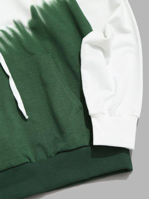 unique Ombre Hoodie And Pants Two Piece Set - GREEN S Mobile