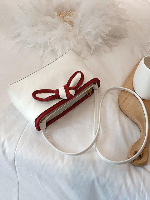 Sac Fourre-tout Nœud Papillon Design en Cuir PU - Blanc Lait  Mobile