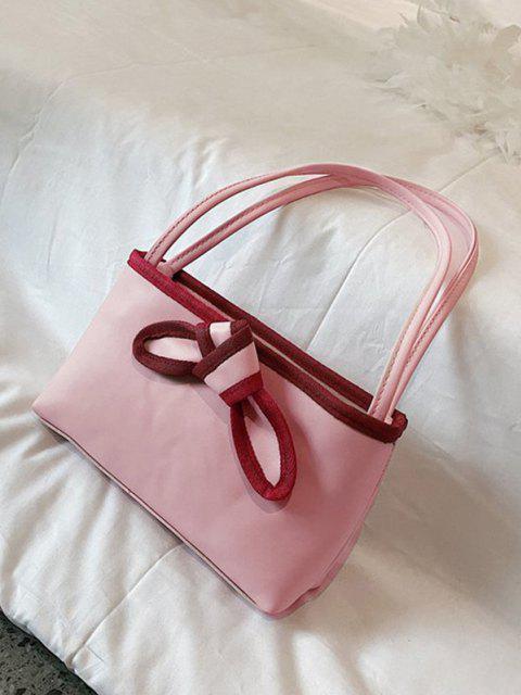 Bolso de Mano Cuero PU Moño - Cerdo Rosa  Mobile