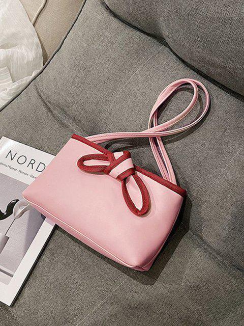 Bowknot Stil PU Leder Einkaufstasche - Schwein Rosa  Mobile