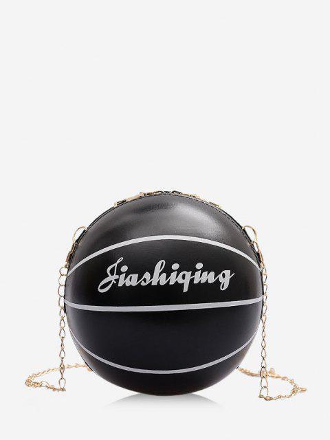 online Basketball Shape Chain Crossbody Bag - BLACK  Mobile