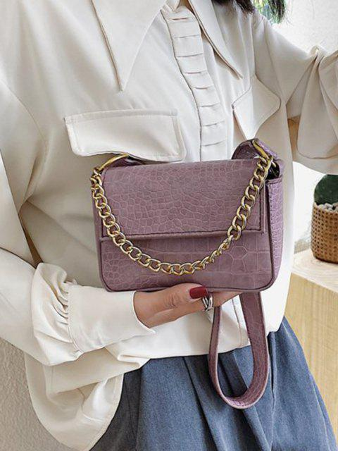 Animal Pattern PU Leather Double Strap Bag - خبازي  Mobile