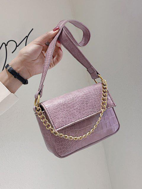 outfits Animal Pattern PU Leather Double Strap Bag - MAUVE  Mobile