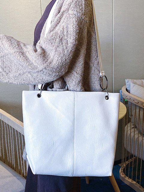shops Solid O Ring Shoulder Bag - MILK WHITE  Mobile