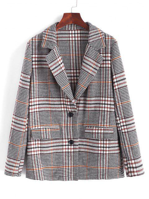 outfits ZAFUL Houndstooth Lapel Blazer - MULTI-A XL Mobile