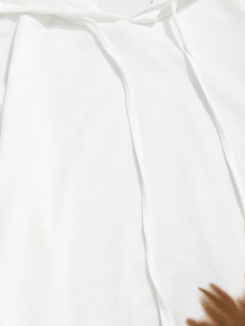 ladies Ombre Print Front Pocket Hoodie - KHAKI L Mobile