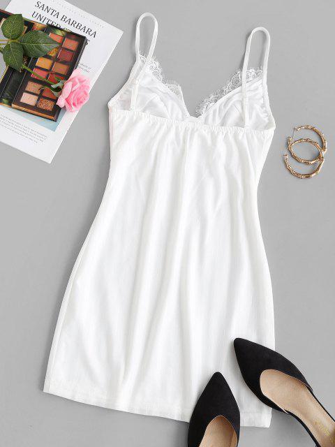 Schatten Streifen Cami Schlaf Kleid - Weiß M Mobile