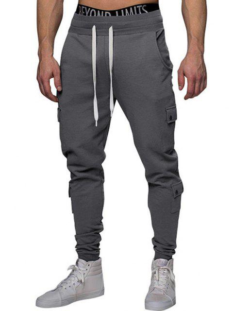 Multi-Taschen Verjüngende Sporthosen - Grau S Mobile